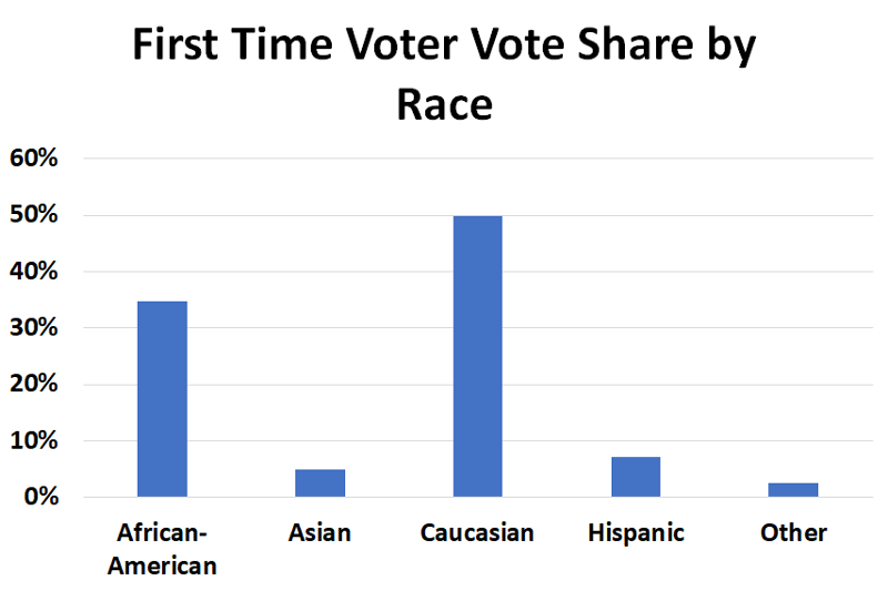 Georgia First Time Voters By Race